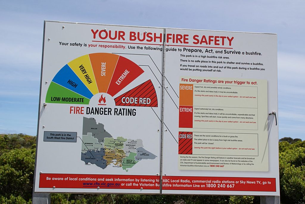 Great Ocean Road Australien Feuer