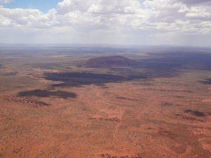 Uluru aus dem Flieger