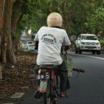 Verkehr Mauritius Motorradfahrer
