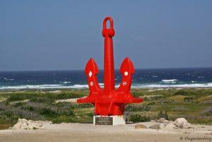 Roter Anker auf Aruba