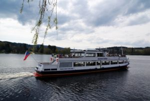 Moldaustausee Schifffahrt