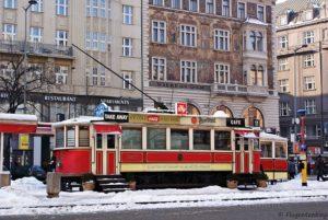 Prag Innenstadt Straßenbahn