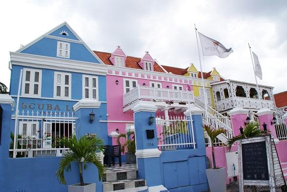 Willemstad bunte Häuser