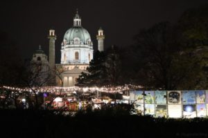 Wien Karlsplatz Christkindlmarkt Art Advent