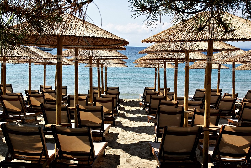 Skiathos Straende Liegen Koukounaries Beach