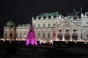 Wien Schloss Belvedere Weihnachtsdorf