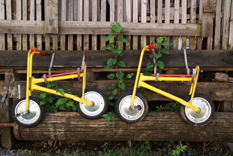 Dorfmuseum Mönchhof alte Kinderfahrräder