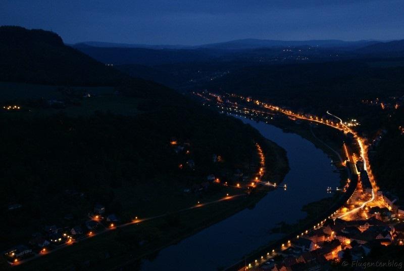 Saechsische Schweiz Elbe Koenigstein