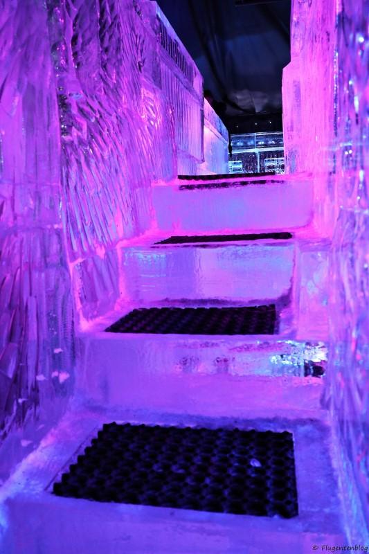 Stufen aus Eis