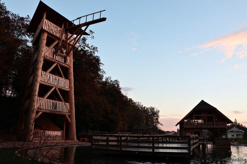 Aussichtsturm im Slovenia Eco Resort