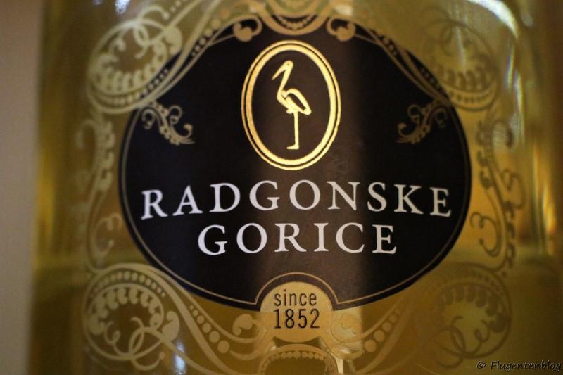 Goldenes Flaschenetikett von Radgonske gorice