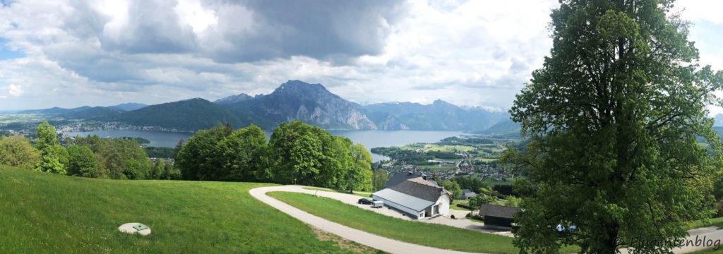 Ausblick auf Traunstein und Traunsee