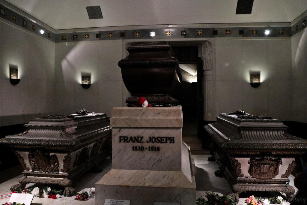 Wien Kaisergruft Grab von Kaiserin Sissi