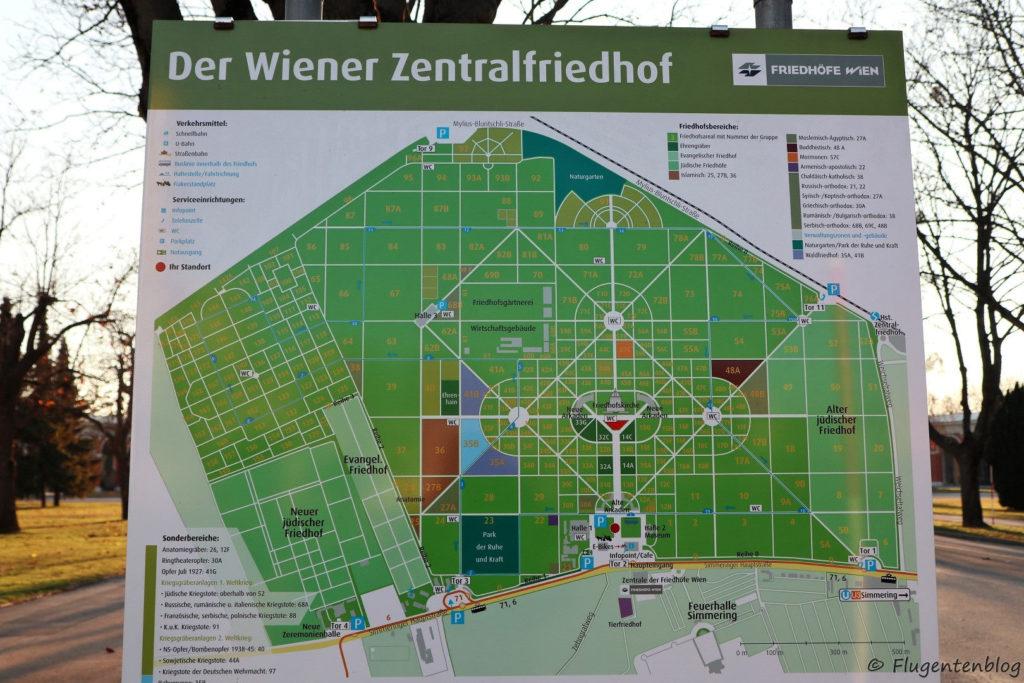 Zentralfriedhof Wien Plan