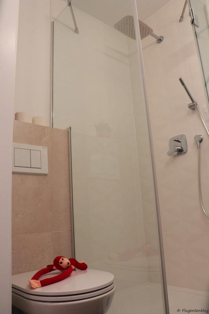 Unterkunft Wien Red Monkey Apartment WC und Dusche