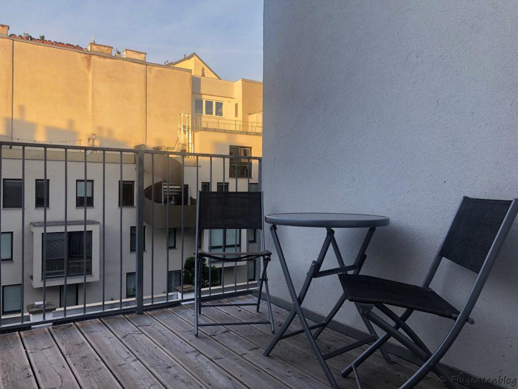 Unterkunft Wien Balkon