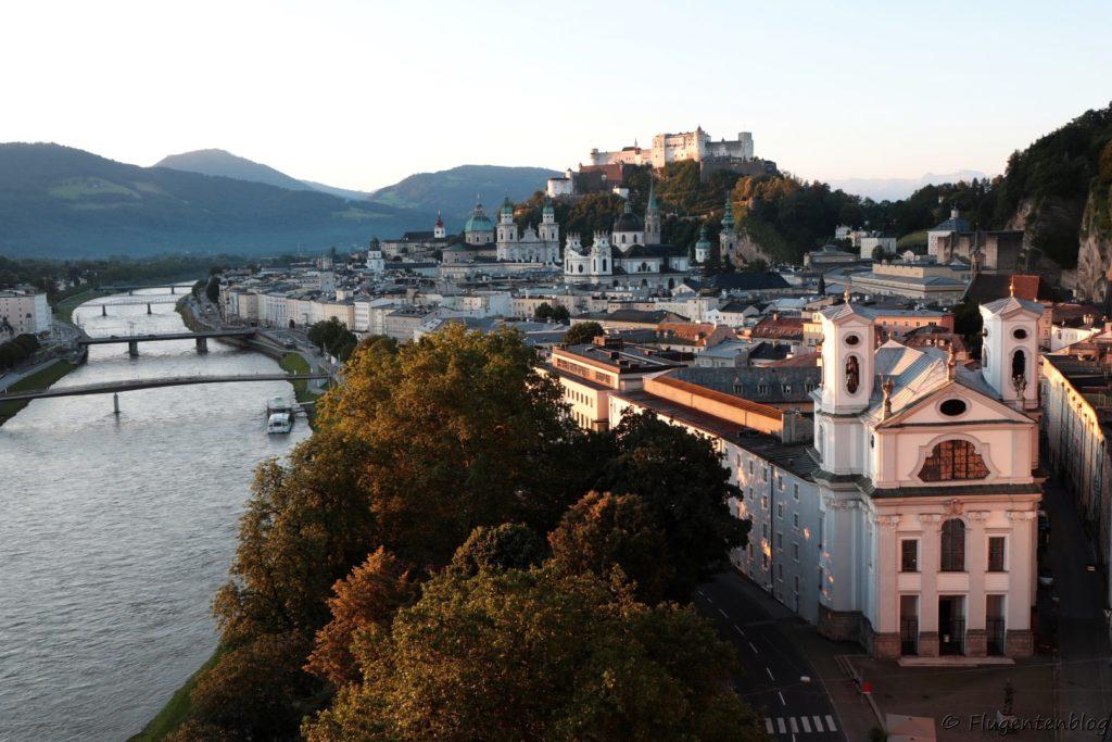 Salzburg Ausblick Humboldtterrasse