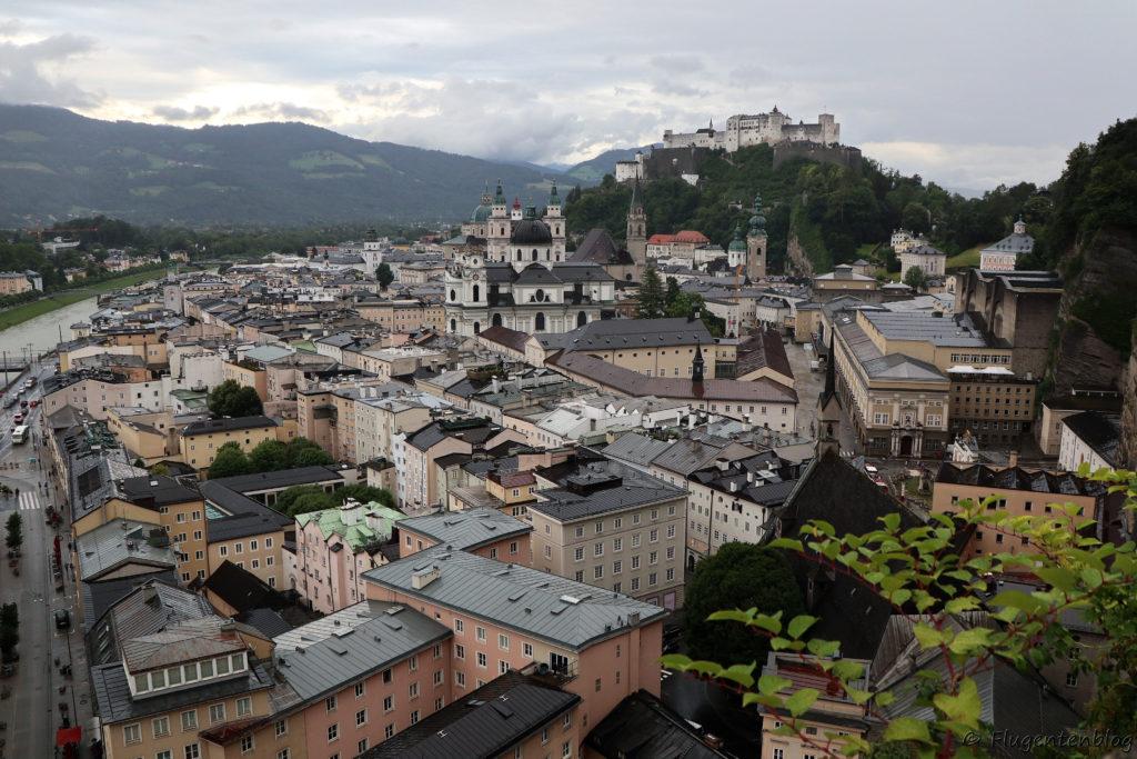 Salzburg Moenchsberg Ausblick