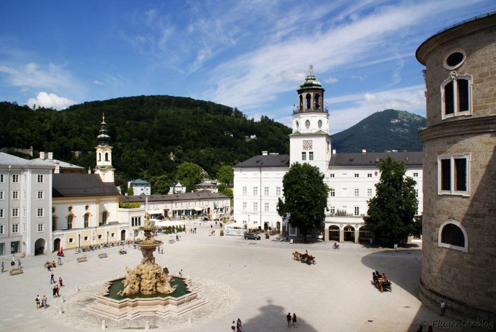 Salzburg Aussicht Dombogenterrasse Domquartier