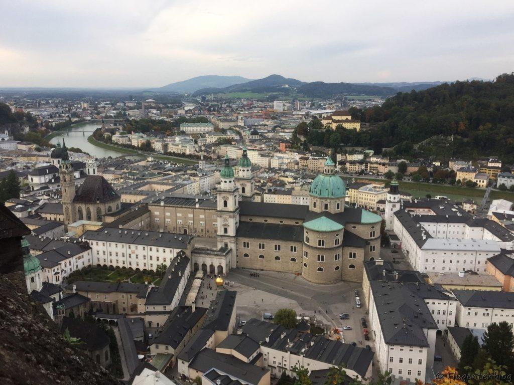Salzburg Sehenswürdigkeit Festung Ausblick