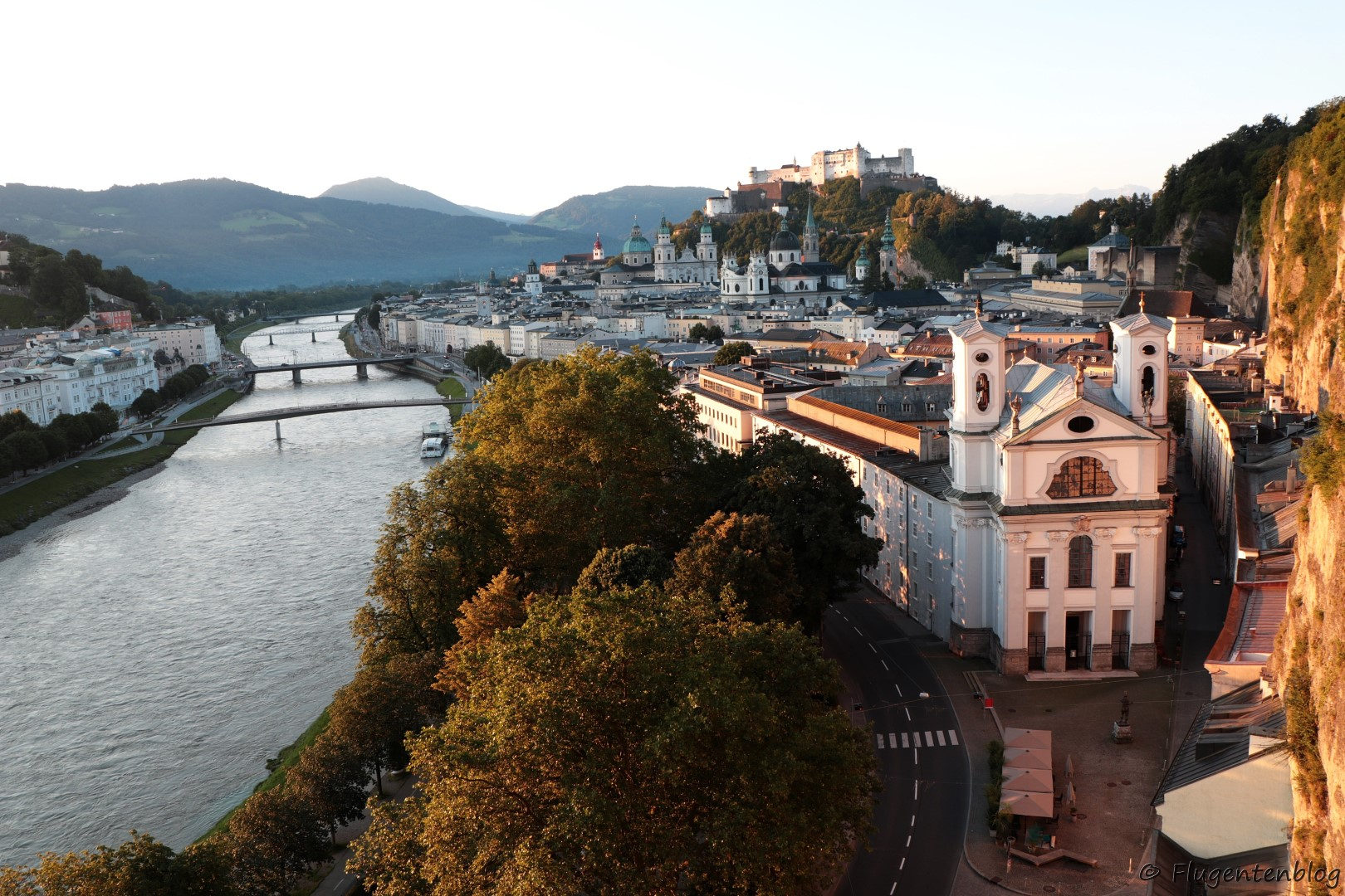 Salzburg Ausblick Humboldt Terrasse