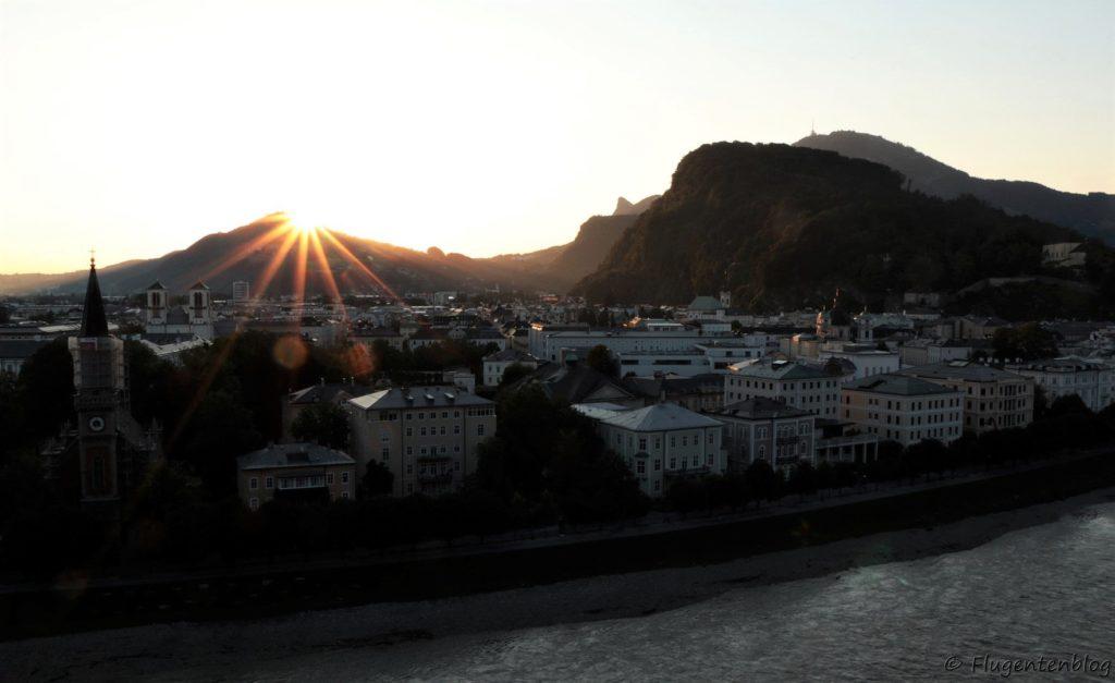 Salzburg Sonnenaufgang Humboldt Terrasse