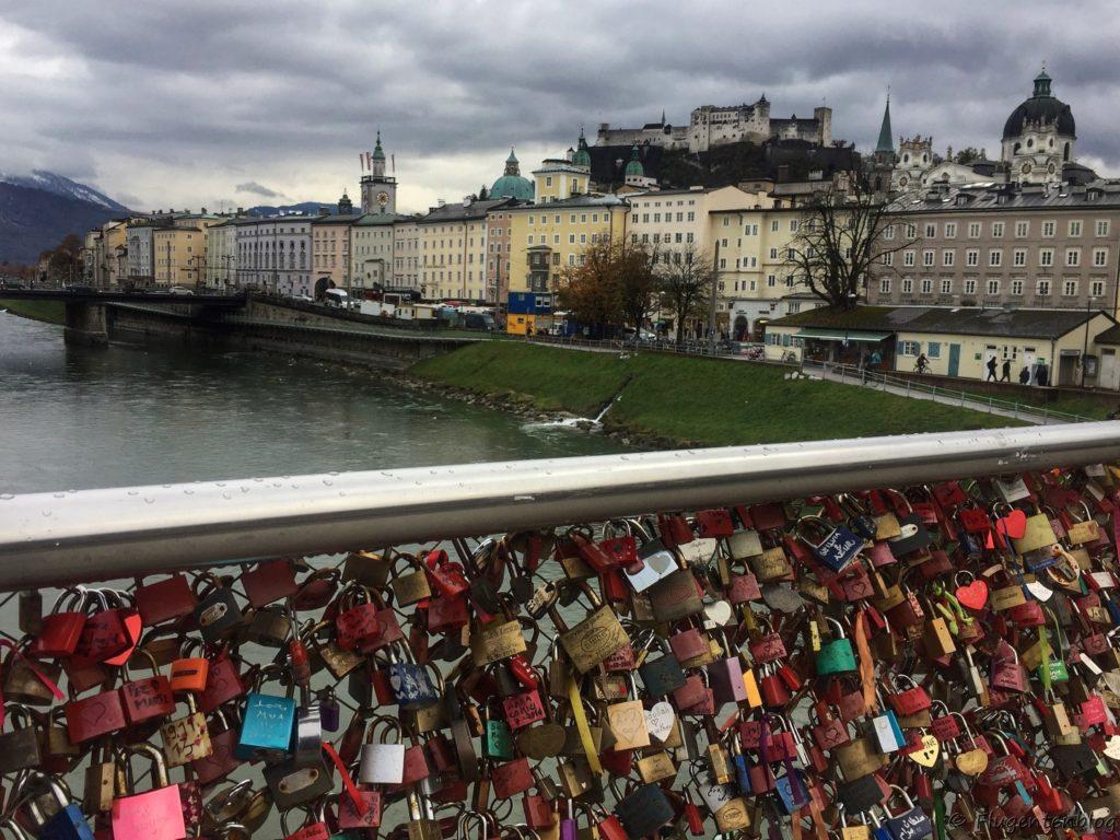 Salzburg Makartsteg Liebesbrücke