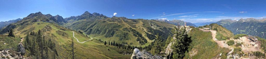 Montafon Wandern Panoramaweg Gantakopf